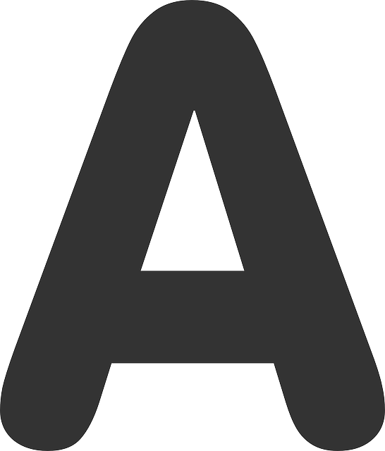 Letter A Black Free Vector Graphic On Pixabay