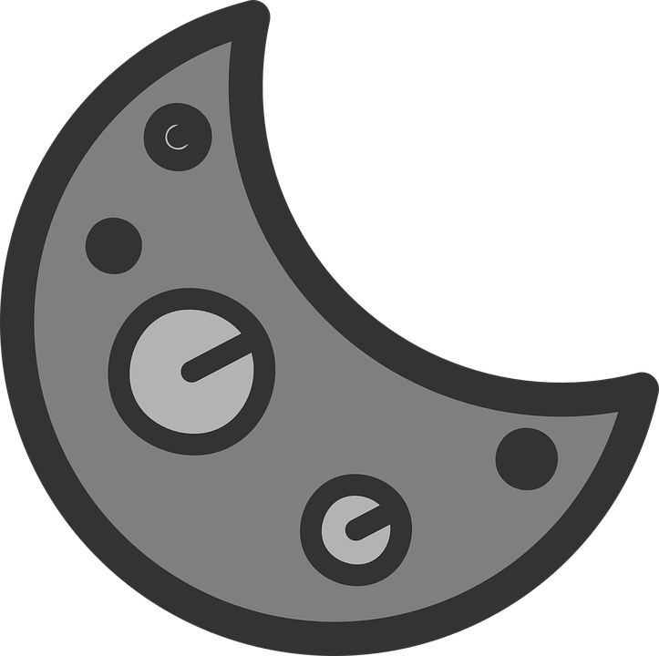 Crescent Moon Sign Free Vector Graphic On Pixabay