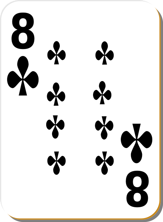 Playing Card, Eight, Clubs, Play, Gambling, Casino
