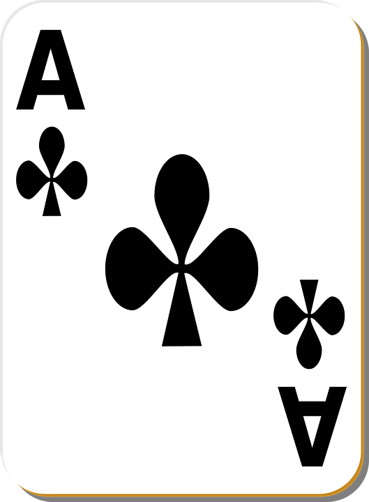 free vector graphic  playing card  ace  clubs  game