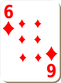 Playing Card, Six, Diamonds, Play