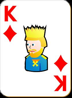 Playing Card, King, Diamonds, Game, Card