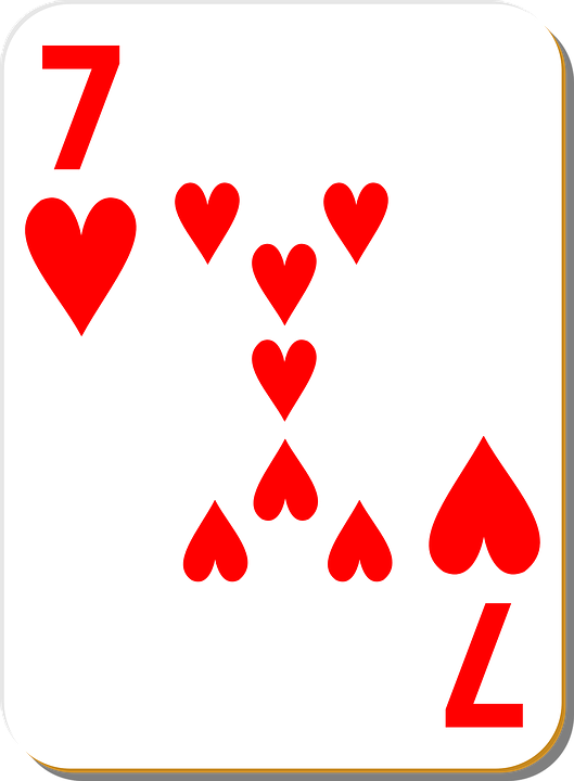 Free vector graphic: Seven, Hearts, 7, Playing, Cards - Free Image ...