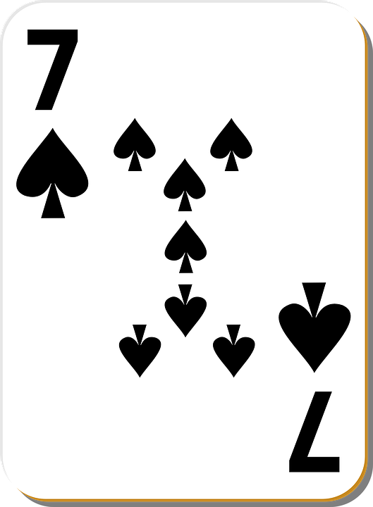 7 spade card game  Playing Cards Spade 6 - Free vector graphic on Pixabay