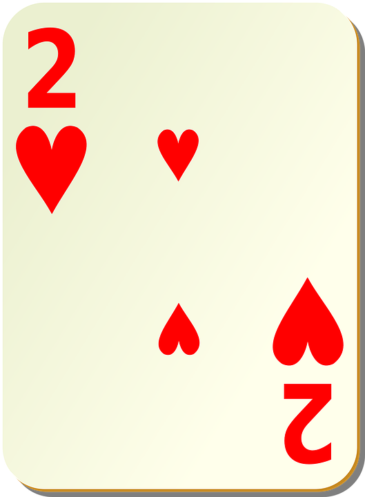 free vector graphic two hearts playing cards 2 card free