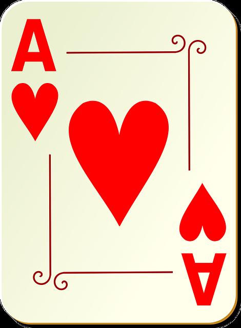 Image vectorielle gratuite: Ace, Coeurs, Cartes \u00c0 Jouer, Poker - Image gratuite sur Pixabay - 28357