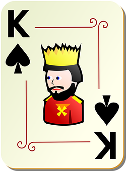 King, Spades, Playing Cards, Poker