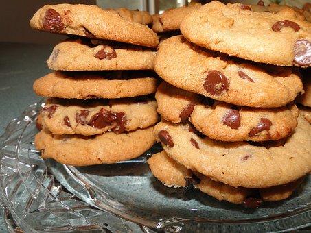 Cookies, Chocolate Chip, Food, Dessert