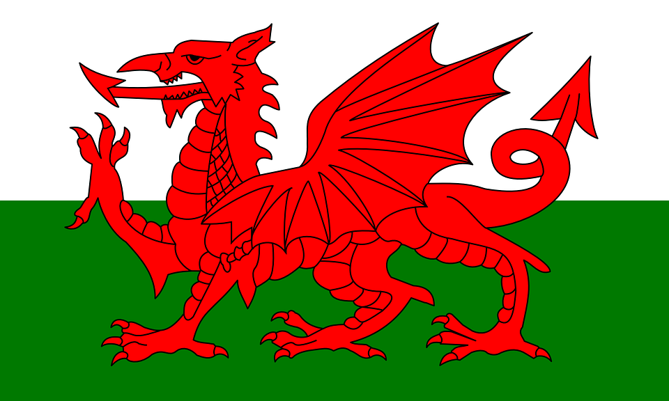 País De Gales Bandera Reino - Gráficos vectoriales gratis en Pixabay