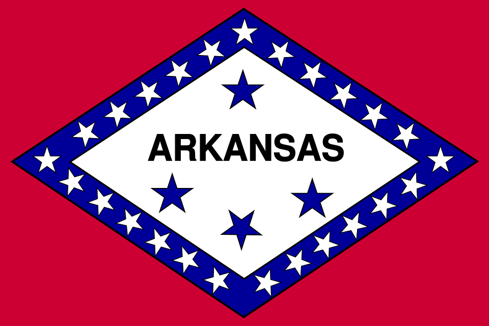 Flag, Arkansas, State, Symbols, Usa, America, Red