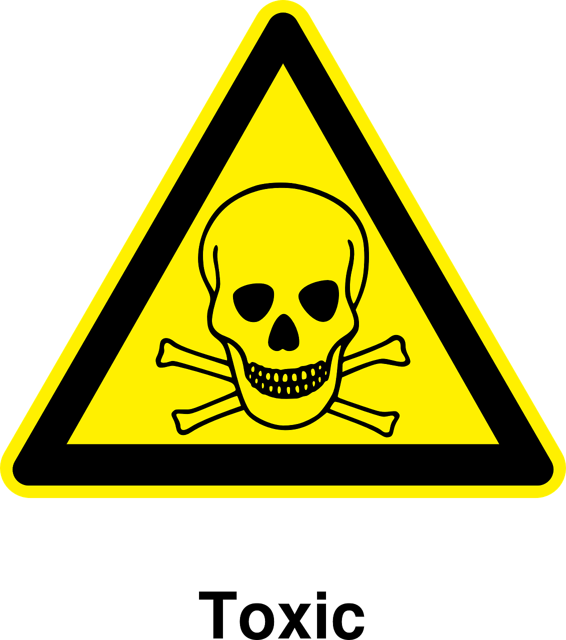 toxic sign and skulls - photo #8