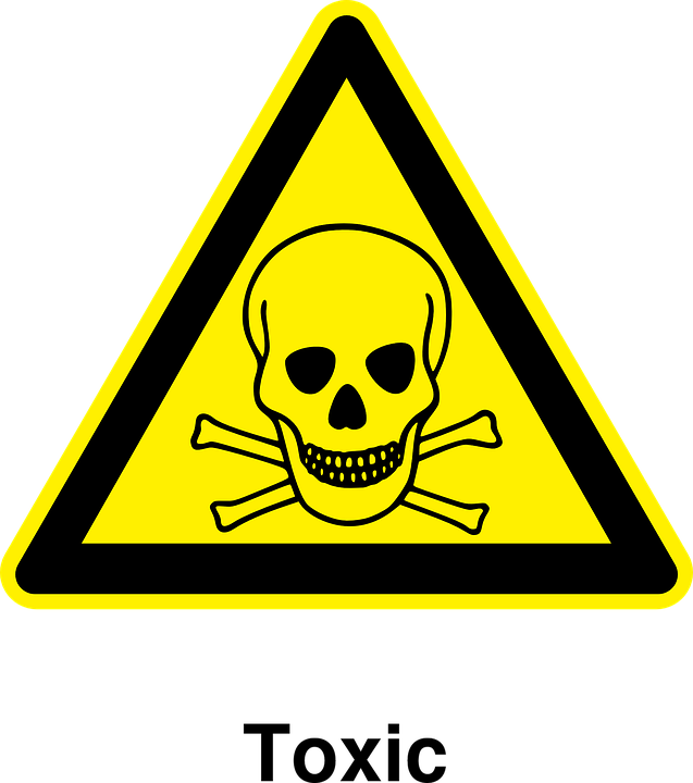 Toxic, Materials, Warning, Poisonous, Dangerous, Waste