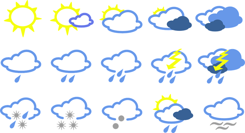 Weather Signs Symbols Free Vector Graphic On Pixabay