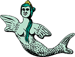 mermaid, fish, woman