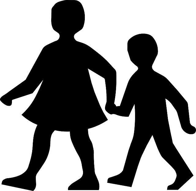 Walking In Love Clip Art: Children Walking Holding Hands · Free Vector Graphic On