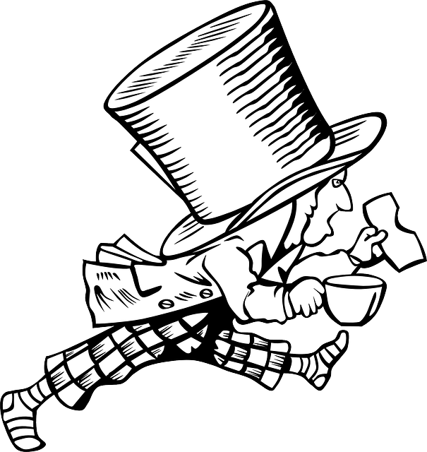 mad hatter alice in wonderland  u00b7 free vector graphic on