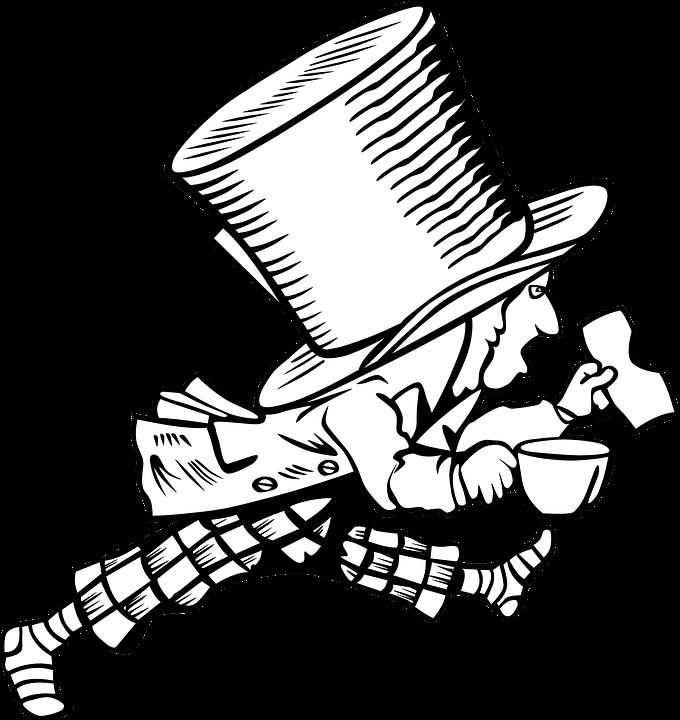 Sombrerero Loco Alicia En El País · Gráficos vectoriales gratis en ...
