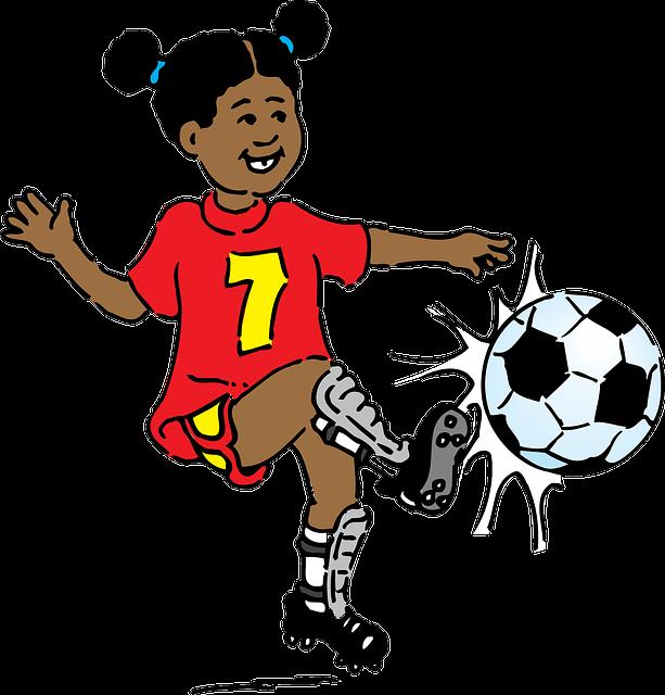 girl playing football  u00b7 free vector graphic on pixabay