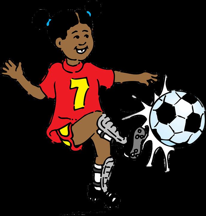 Nina Jugando Futbol Graficos Vectoriales Gratis En Pixabay