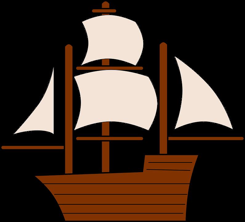 Free vector graphic: Sailing, Ship, Boat, Sail, Pirate ...