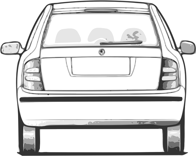 coloring pages car back view - photo#4