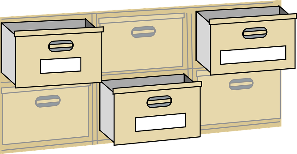 free vector graphic drawers cabinet furniture office free image