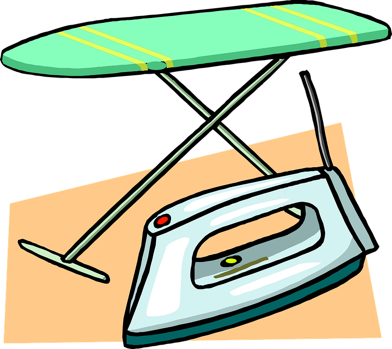 Steam Iron Clip Art ~ Free vector graphic ironing board iron clothes