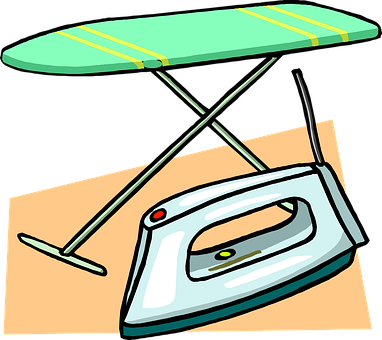 Ironing, Board, Iron, Clothes, Steam