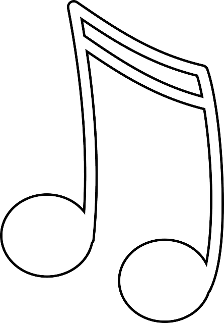 musical note music free vector graphic on pixabay rh pixabay com Music Note Templates Free Pencil Outline