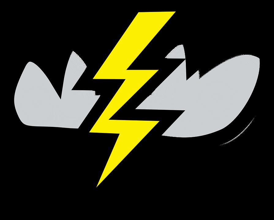 Thunderbolt Lightning Cloud Free Vector Graphic On Pixabay