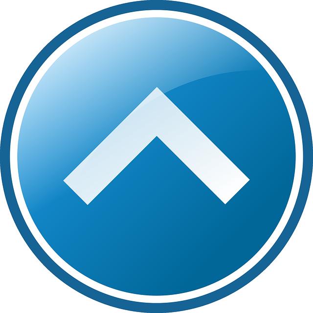 Vector gratis bot n flecha hasta icono imagen gratis for Icono boton