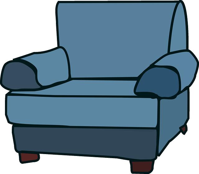 Vector gratis sof sill n muebles silla azul imagen for Sillas para fiestas png