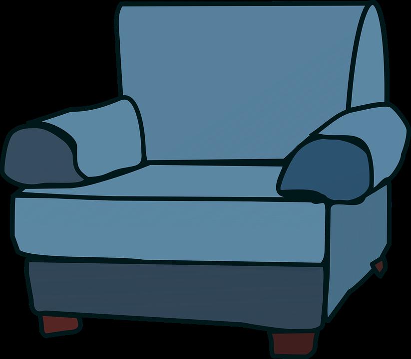 Vector gratis sof sill n muebles silla azul imagen for Imagenes de sofas comodos