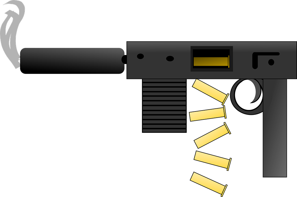 Machine Gun Automatic Weapons Free Vector Graphic On Pixabay