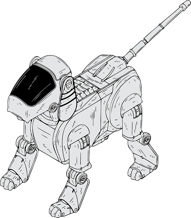 robotic dog electronic  u00b7 free vector graphic on pixabay