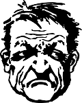 grumpy, frown
