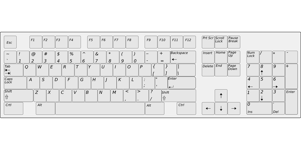 Keyboard Tombol Komputer Gambar Vektor Gratis Di Pixabay