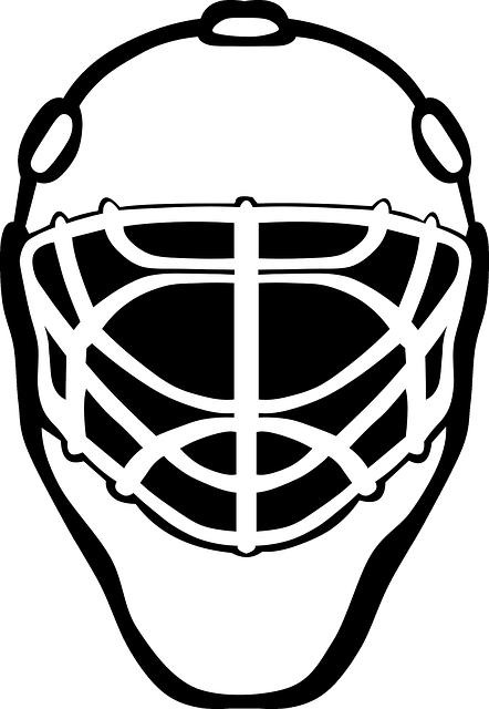 Image vectorielle gratuite masque de hockey masque de - Dessin gardien de but ...