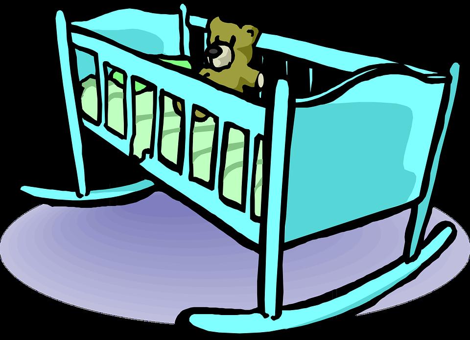 cuna cama de beb oso peluche gr ficos vectoriales