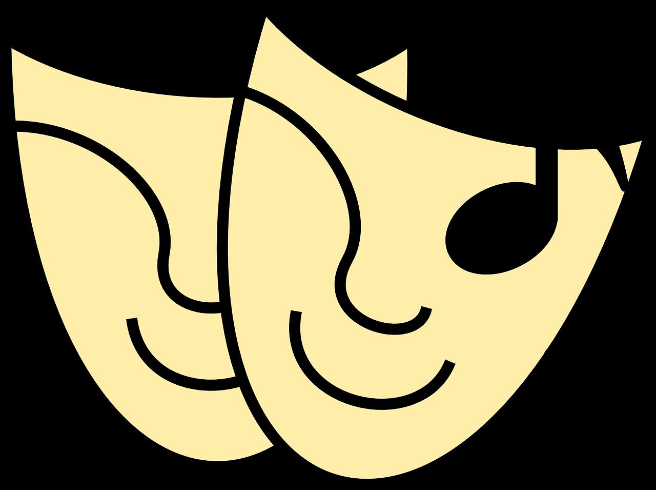 Teatro Calcetín Y Buskin Tragedia - Gráficos vectoriales gratis en Pixabay
