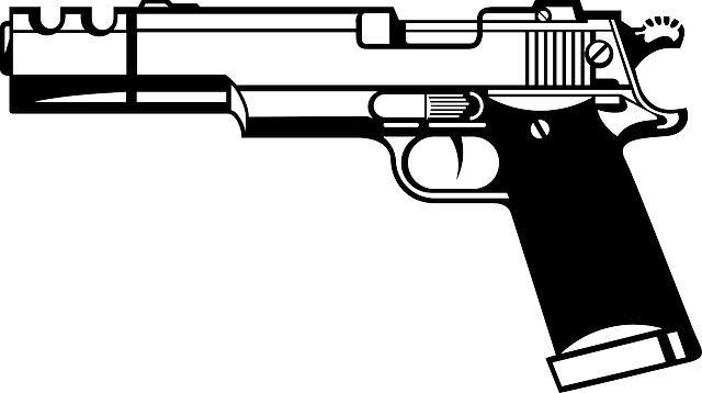 pistol hand gun firearm  u00b7 free vector graphic on pixabay