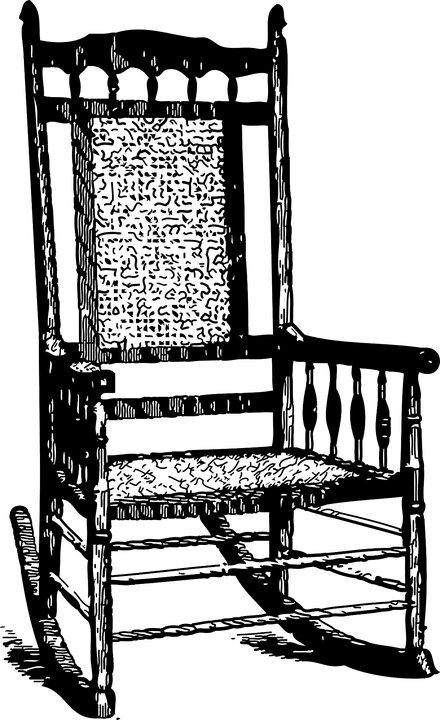 rocking chair drawing. Rocking Chair Rocker Drawing Vintage Furniture G