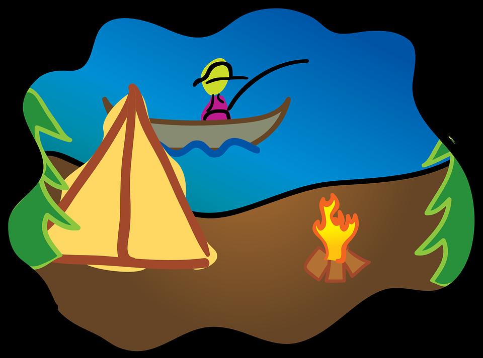 Kemp Rybareni Taboriste Vektorova Grafika Zdarma Na Pixabay