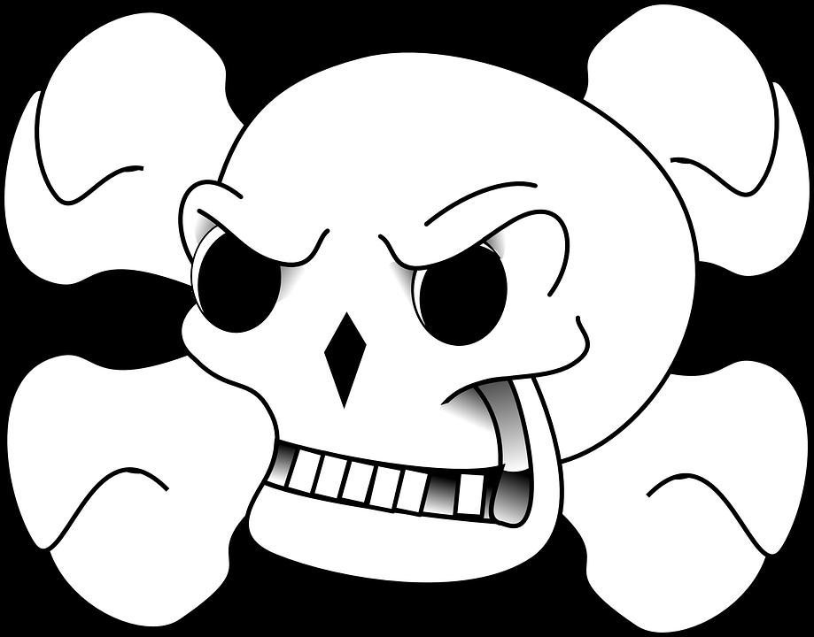 Skull Crossbones Danger Free Vector Graphic On Pixabay
