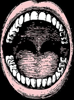 Mouth, Human, Teeth, Open, Tongue