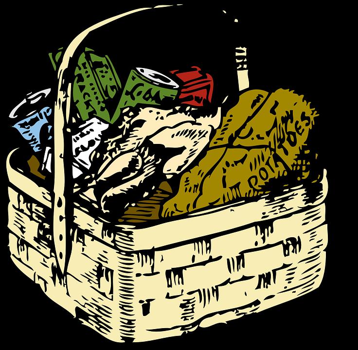 Picnic Basket Straw Food · Free vector graphic on Pixabay