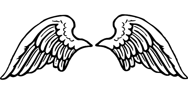 Free vector graphic Wing Spread Angel Flying Peace