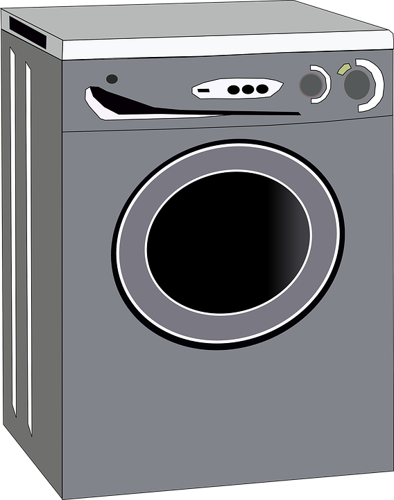 Animated Tumble Dryer ~ Free vector graphic washing machine gray housework