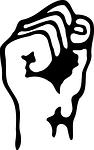 fist, hand, silhouette