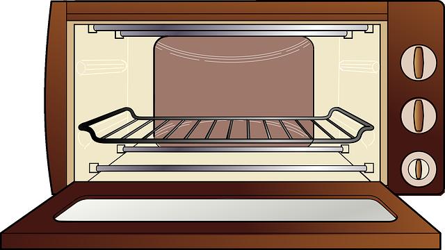 Cartoon Electric Cooker ~ Image vectorielle gratuite four À micro ondes